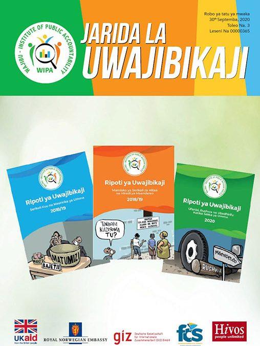 Jarida la Uwajibikaji kwa robo ya tatu ya mwaka 2020